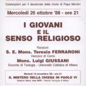 Volantino incontri Giussani - Biffi 1988