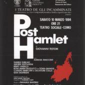 Volantino spettacolo Post Hamlet 10-03-1984