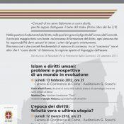 Locandina Ciclo L'umana avventura 2012
