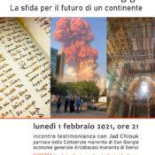 Locandina incontro Libano 01-02-2021